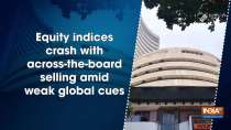 Equity indices crash with across-the-board selling amid weak global cues