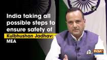 India taking all possible steps to ensure safety of Kulbhushan Jadhav: MEA