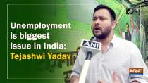 Unemployment is biggest issue in India: Tejashwi Yadav