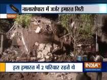 Multi-storey building collapses in Nalasopara, families escape unhurt