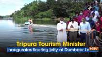 Tripura Tourism Minister inaugurates floating jetty at Dumboor Lake