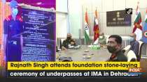 Rajnath Singh attends foundation stone-laying ceremony of underpasses at IMA in Dehradun