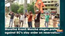 Maratha Kranti Morcha stages protest against SC