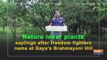 Nature lover plants saplings after freedom fighters name at Gaya