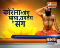 Swami Ramdev shares yoga asanas for stronger lungs