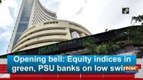 Opening bell: Equity indices in green, PSU banks on low swing