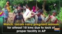 Watch: Locals carry pregnant woman for atleast 10 kms due to lack of proper facility in AP