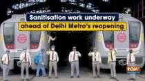 Sanitisation work underway ahead of Delhi Metro