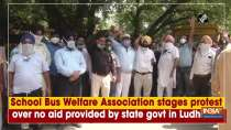School Bus Welfare Association stages protest over no aid provided by state govt in Ludhiana