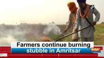Farmers continue burning stubble in Amritsar