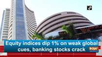 Equity indices dip 1% on weak global cues, banking stocks crack