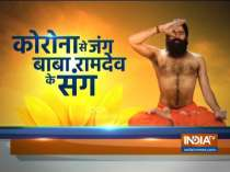 Swami Ramdev suggests doing yogasanas daily to keep the lungs strong