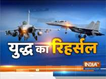 Newly inducted Rafale fighter aircrafts on display during full dress rehearsal ahead of IAF Day parade