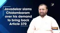 Javadekar slams Chidambaram over his demand to bring back Article 370