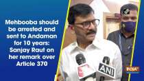 Mehbooba should be arrested and sent to Andaman for 10 years: Sanjay Raut on her remark over Article 370