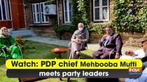 Watch: PDP chief Mehbooba Mufti meets party leaders