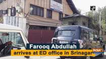 Farooq Abdullah arrives at ED office in Srinagar