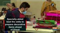 Specially-abled beat the odds to prepare decorative items ahead of Diwali