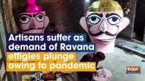 Artisans suffer as demand of Ravana effigies plunge owing to pandemic