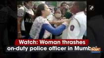 Watch: Woman thrashes on-duty police officer in Mumbai