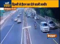 Delhi man forcibly carries traffic cop on car's bonnet