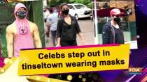 Celebs step out in tinseltown wearing masks