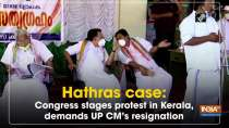 Hathras case: Congress stages protest in Kerala, demands UP CM