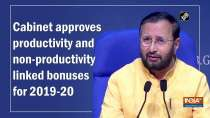 Cabinet approves productivity and non-productivity linked bonuses for 2019-20
