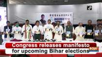 Congress releases manifesto for upcoming Bihar elections