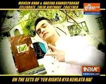 Mohsin Khan celebrates birthday on the sets of