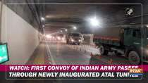 Watch: First convoy of Indian Army passes through newly inaugurated Atal Tunnel