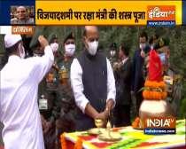 Dussehra: Rajnath Singh performs