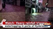 Watch: Heavy rainfall triggers waterlogging in parts of Hyderabad