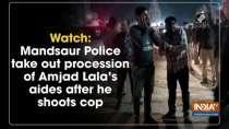 Watch: Mandsaur Police take out procession of Amjad Lala