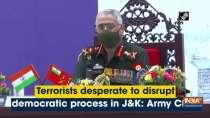 Terrorists desperate to disrupt democratic process in J&K: Army Chief