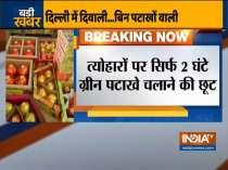 Complete ban on selling, bursting firecrackers in Delhi-NCR from midnight till November 3