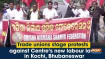 Trade unions stage protest against Centre