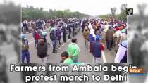 Farmers from Ambala begin protest march to Delhi