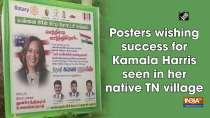 Posters wishing success for Kamala Harris seen in her native TN village