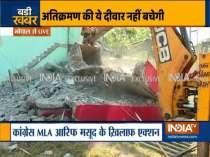 MP: Police demolishes illegal property of Congress MLA Arif Masood in Bhopal