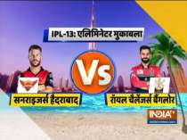IPL 2020: SRH win toss, opt to bowl first against RCB in Eliminator