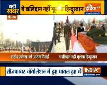 Wreath laying ceremony of BSF sub-inspector Rakesh Dobhal