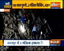 3-storey building collapses in Kanpur