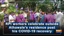 RPI workers celebrate outside Athawale