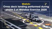 Watch: Cross deck landing performed during phase 2 of Malabar Exercise 2020