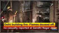 Delhi building fire: Flames doused off, no casualty reported at Gandhi Nagar area