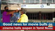 Good news for movie buffs as cinema halls reopen in Tamil Nadu