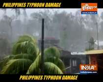 Powerful typhoon lashes Philippines, killing at least 10
