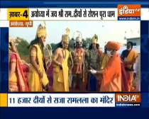 Top 9: Over 5 lakh diyas lit on Saryu riverbank in Ayodhya