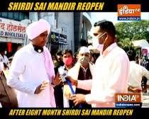 Shirdi Sai Mandir opens after eight months